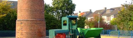 Restant Schoorsteen Greswarenfabriek (Heyencamp)